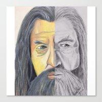 gandalf Canvas Prints featuring Gandalf   by RidnelSilva