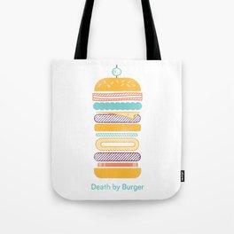 Death by Burger Tote Bag