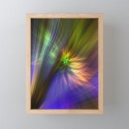 Concept abstract : happiness instead of gloom Framed Mini Art Print