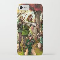 robin hood iPhone & iPod Cases featuring Robin Hood and his Merry Women by Eco Comics