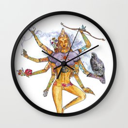 Modern Goddess Tools - Sexy Eight Armed Blonde Wall Clock