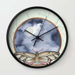 Night Moth Wall Clock