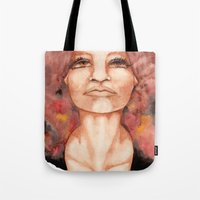 onward Tote Bags featuring Upward and Onward by LaHaynes