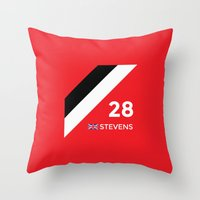 f1 Throw Pillows featuring F1 2015 - #28 Stevens [v2] by MS80 Design
