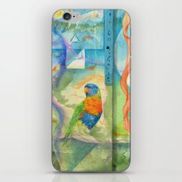 Song for Rainbow Parrot iPhone Skin