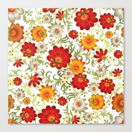 Art Flowers V5 Canvas Print