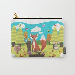 Forest Friends Fall Frolic Carry-All Pouch