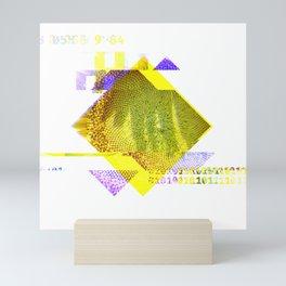GLITCH NATURE #82: Seeding sunflower Mini Art Print
