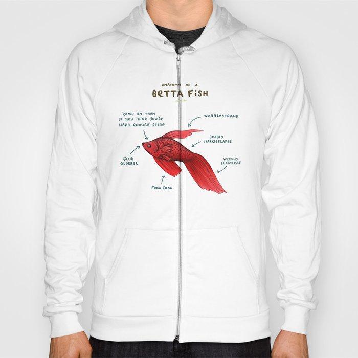 Anatomy of a Betta Fish Hoody by sophiecorrigan   Society6
