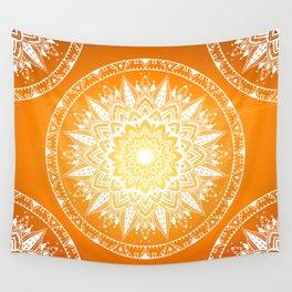 Sunset mandala Wall Tapestry