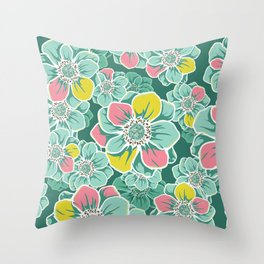 Mandala Flowers 5 Throw Pillow