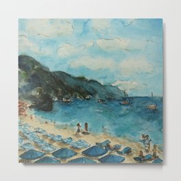 Monterosso Shore Metal Print