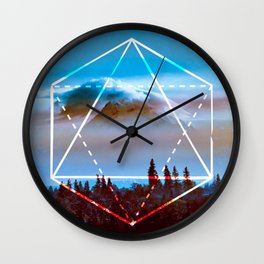The Elements Geometric Nature Element of Air Wall Clock