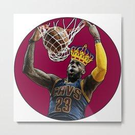King LeBron Dunking James Metal Print