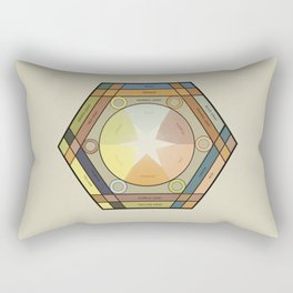 Babbitt's Chromatic Harmony of Gradation and Contrast, 1878, Remake with text, Vintage Wash Rectangular Pillow