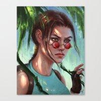 megan lara Canvas Prints featuring Lara by LaraRobsGraves