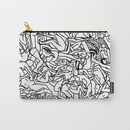 Lots of Bodies Doodle - Closeup Carry-All Pouch