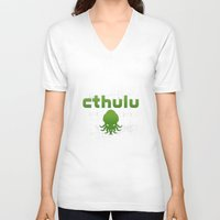 cthulu V-neck T-shirts featuring Cthulhu? by XANTHIER