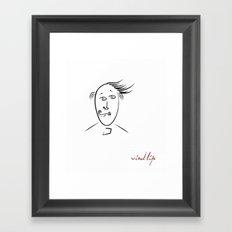 Wind life Framed Art Print
