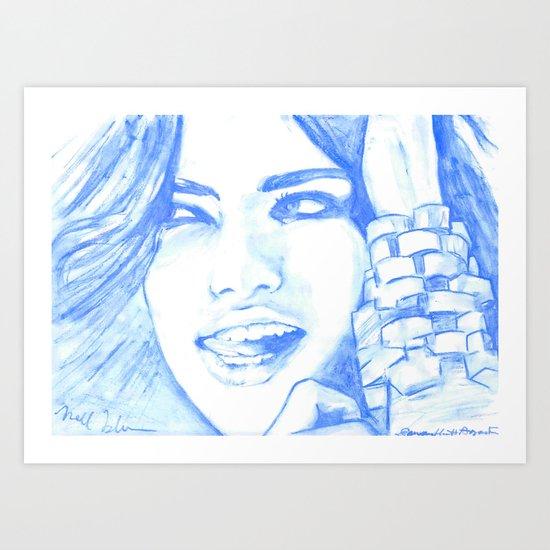 Hielo y Sal Art Print