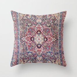 Kashan Central Persian Rug Print Throw Pillow