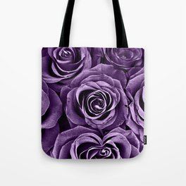 Rose Bouquet in Purple Tote Bag