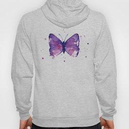 Butterfly Purple Watercolor Animal Hoody