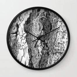 Ponderosa Pine- Tree Bark Wall Clock