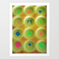 Hazy Puzzle Art Print