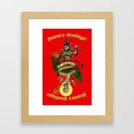Krampus & Saint Nikolaus Framed Art Print