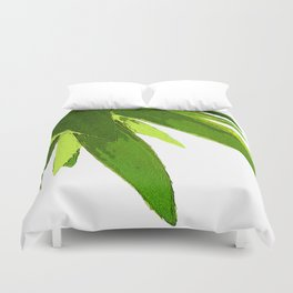 PALM TREE ON TROPICAL ISLAND FOLIAGE Duvet Cover