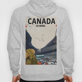 Canada - Go Hiking travel poster. Hoody