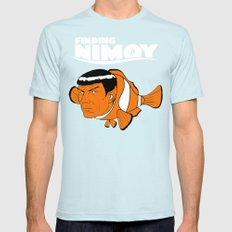 Finding Nimoy Mens Fitted Tee SMALL Light Blue