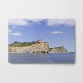 Little house by the cliffside Metal Print