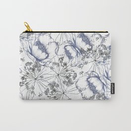 line work floral Carry-All Pouch