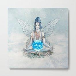 Air Elemental Fairy Metal Print