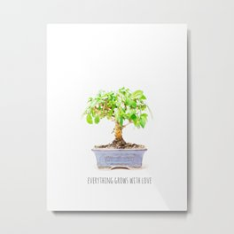everything grows with love Metal Print