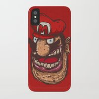 mario iPhone & iPod Cases featuring Mario by Lime