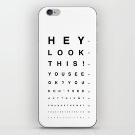 Look this! iPhone Skin