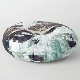 Sea and Mountains Floor Pillow