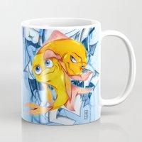 bucky Mugs featuring Bucky & Ace by Paz Art