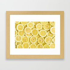 Lemon pattern Framed Art Print
