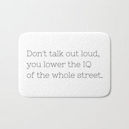 Don't talk - Sherlock - TV Show Collection Bath Mat