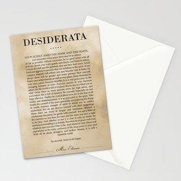 Desiderata by Max Ehrmann - Typography Print 21 Stationery Cards