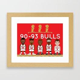 3-Peat Bulls Framed Art Print