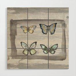 Butterfly study Wood Wall Art