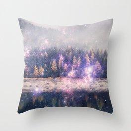 Star Forest Throw Pillow