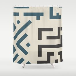 African Tribal Pattern No. 58 Shower Curtain