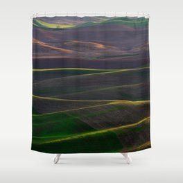 The Palouse Hills at Sunset Shower Curtain
