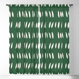 MATISSE ABSTRACT CUTOUTS . FOREST WHITE Blackout Curtain